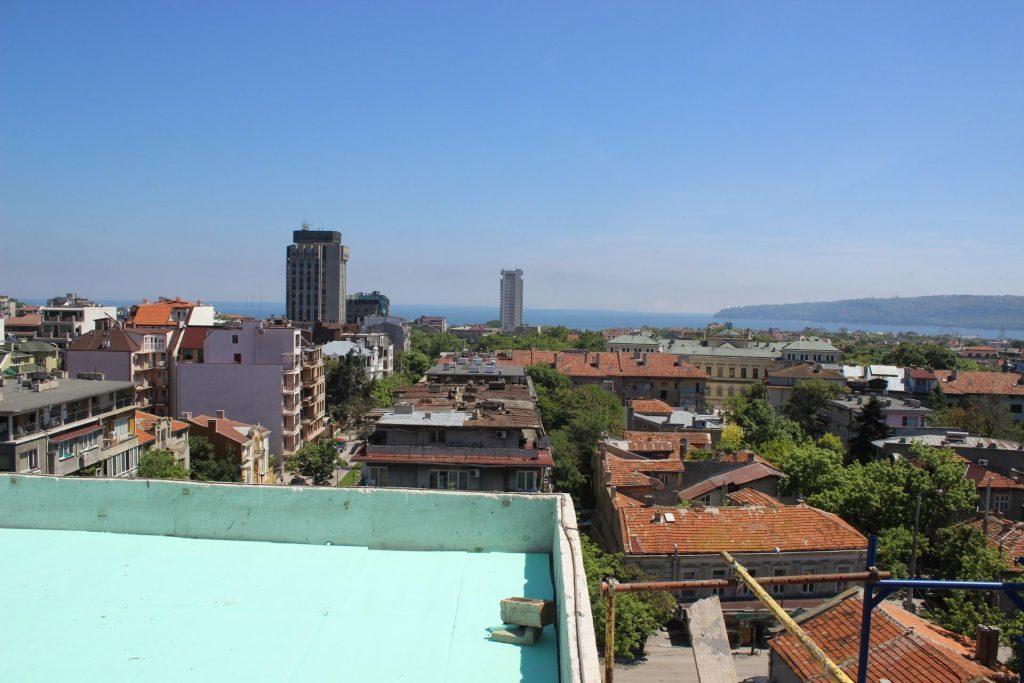 Гледка от покрива - сграда ул.