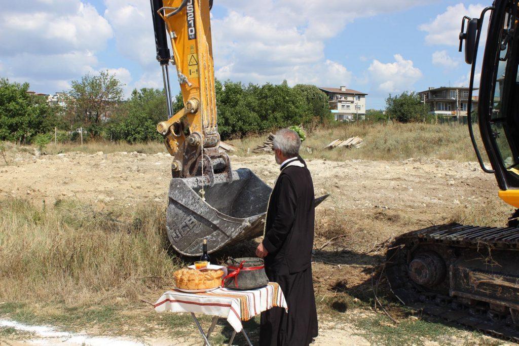 Виница Гадрън - първа комка на строежа