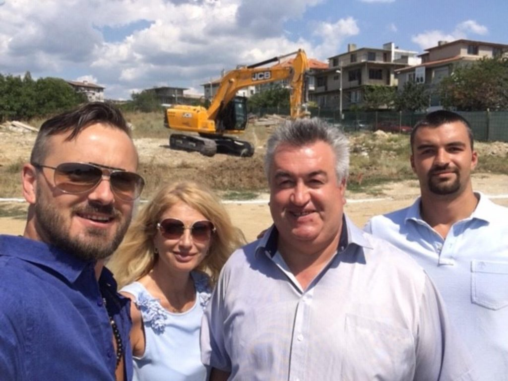 Виница Гадрън - първа комка на строежа инж Бисер Радев